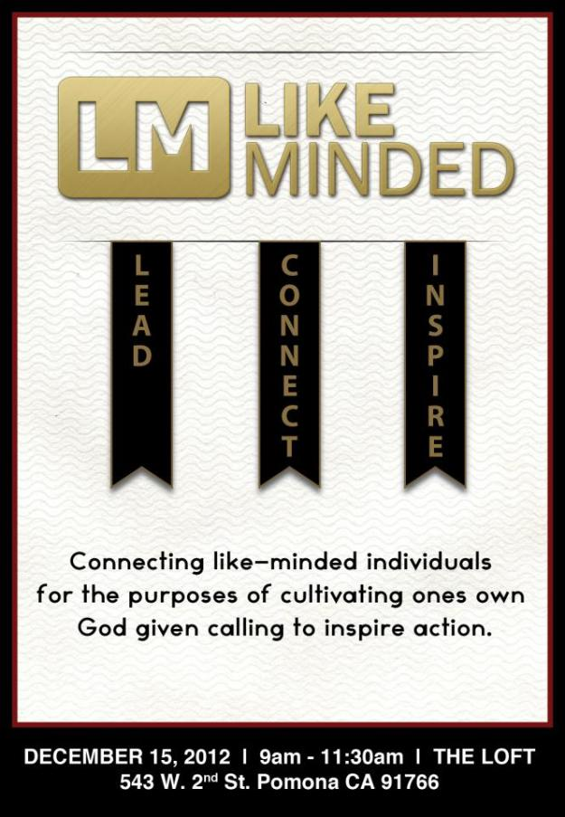 like minded unite flyer dec 15th